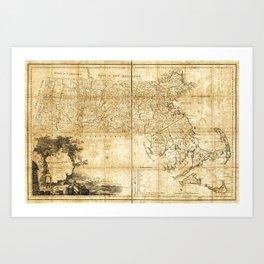 Map of Massachusetts (1801) Art Print