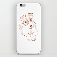 jack russell iPhone & iPod Skins featuring Jack russell by 1 monde à part