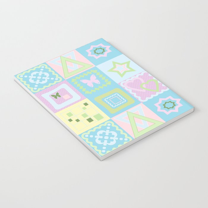 Delicate shades of baby pattern. Notebook