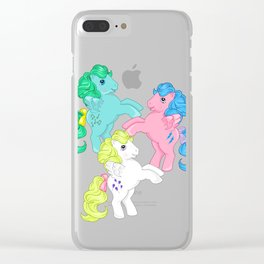 g1 my little pony pegasus Clear iPhone Case