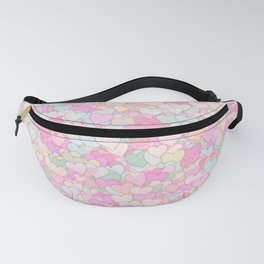 Cute Pastel Hearts 12 Fanny Pack
