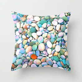 PEBBLES ON THE BEACH Throw Pillow