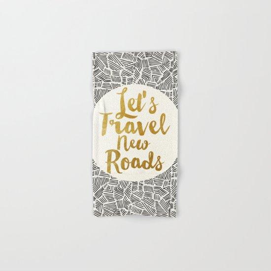 Let's Travel New Roads Hand & Bath Towel