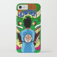 monster hunter iPhone & iPod Cases featuring Monster Hunter by Rasheed Daoud Hines