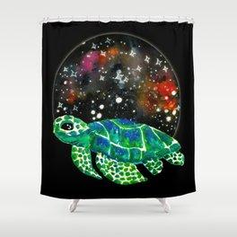 Watercolor Sea Turtle Shower Curtain