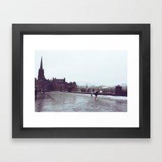 Snowy Day in Edinburgh Framed Art Print