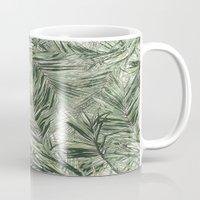 palms Mugs featuring palms by .eg.