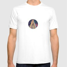 Center of Attention Mens Fitted Tee MEDIUM White