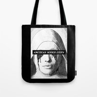 ahs Tote Bags featuring AHS Coven by Zharaoh