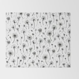 Dandelion Pattern Throw Blanket