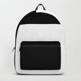Black and white - Half and Half Split Backpack