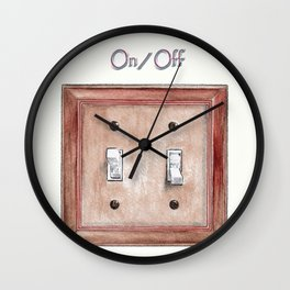 Switch Plate Wall Clock