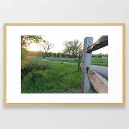 Trailing Framed Art Print
