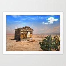 Shack in Desert Ghost Town Art Print