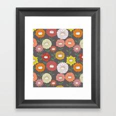 Talking Garden (gray) Framed Art Print