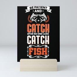 Fishing Swordfish Angler Crazy Design for Fisherman and Fisher Mini Art Print