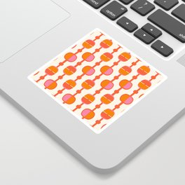 Mid Century Retro Dots Sticker