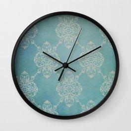 Vintage Damask - Dark Teal Wall Clock