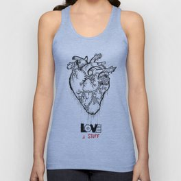 Heart Of Hearts: Outline & Stuff Unisex Tank Top