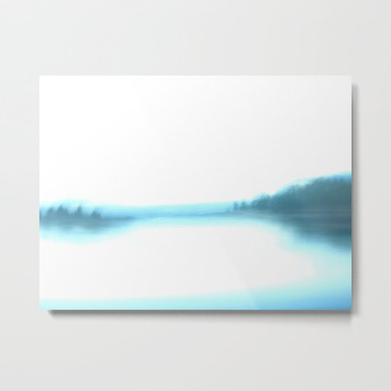 morning blurry lake in New Hampshire Metal Print