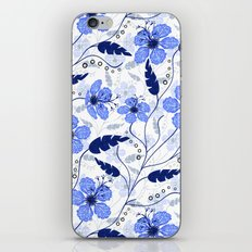 Floral pattern on a white background. iPhone Skin