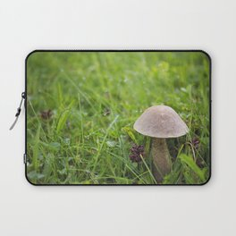 Mushroom in the Morning Dew by Althéa Photo Laptop Sleeve