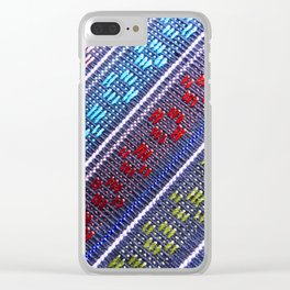 Guatemalan Fabric Clear iPhone Case