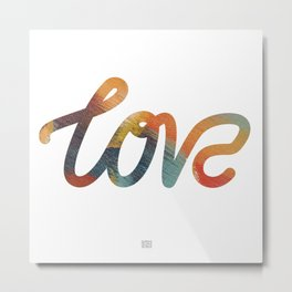 "The Love Series #17 - ""Love"" (typography) Metal Print"