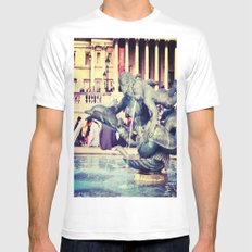 Fountain of Angels MEDIUM White Mens Fitted Tee