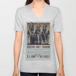 Vintage poster - Aviation Cadet Training Unisex V-Neck