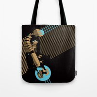 engineer Tote Bags featuring The Engineer by Florey