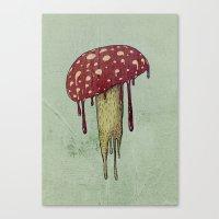 mushroom Canvas Prints featuring Mushroom by Lime