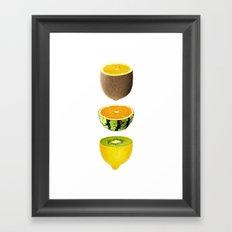 Mixed Fruits Framed Art Print