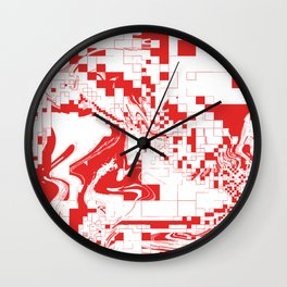 Digital Abstract  Wall Clock