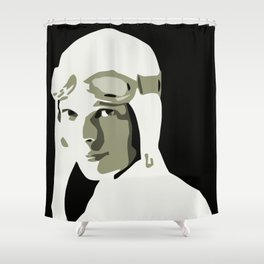Silhouette vector Art: Amelia Shower Curtain