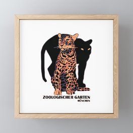 Munich Zoo Big Cats Framed Mini Art Print