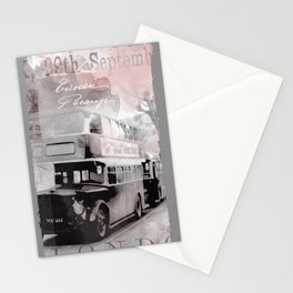 Vintage England London Britain Illustration Pastel Colors Stationery Cards