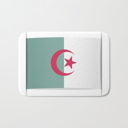 Flag of Algeria. The slit in the paper with shadows. Bath Mat