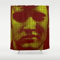 elvis Shower Curtains featuring Elvis by Ganech joe