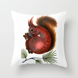 TinTin The Red Squirrel Throw Pillow