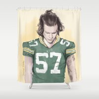 coconutwishes Shower Curtains featuring Harry is Packers AF by Coconut Wishes