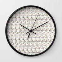 pills Wall Clocks featuring Pills by victoria negrin