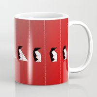 penguin Mugs featuring PENGUIN by ARCHIGRAF
