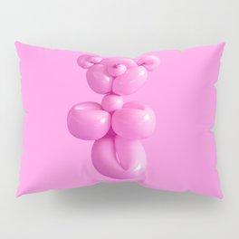 Pink party balloon teddy bear Pillow Sham