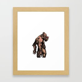 The Big Bad Pig Man Framed Art Print