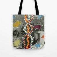 dna Tote Bags featuring DNA by Naomi Vona
