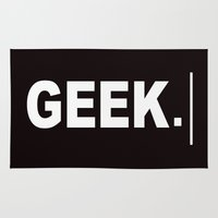 geek Area & Throw Rugs featuring GEEK by UMe Images
