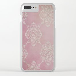 Vintage Damask - Cherry Clear iPhone Case