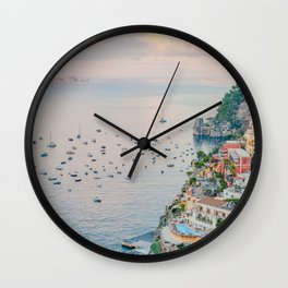 Positano at Dusk Wall Clock