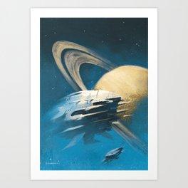 """The Saturn Run"" Art Print"